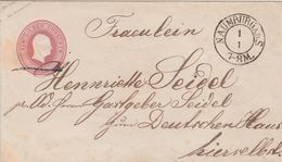 Allemagne Prusse Entier Postal Naumburg - Stamped Stationery
