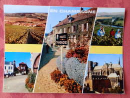 Dep 51 , Cpm  En CHAMPAGNE  , Multivues , 10.11688 , Vignoble , Epernay , Hautvillers , Reims (M03.725) - France