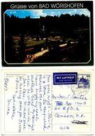 Germany, West 1987 Postcard Grüsse Von Bad Wörishofen - Park & Water Fountain - Greetings From...