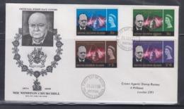 British Solomon Islands 1966 Sir Winston Churchill FDC - Sir Winston Churchill