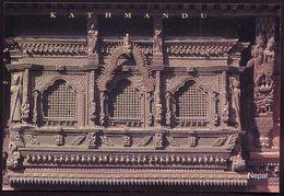 """Nepal 1990,Kathmandu Architecture Windows, Goddess Kumari. """"wood Carving Window"""" R69 - Nepal"""