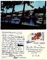 Bermuda 1970's Postcard Flatt's Inlet And Village, Somerset Postmark - Bermuda