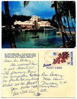 Bermuda 1972 Postcard Coral Island Club At Flatts Inlet, Perot Post Office Pmk - Bermuda