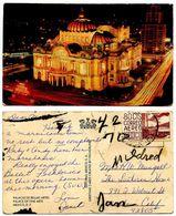Mexico 1960's Postcard Palace Of Fine Arts - Mexico City - Mexique