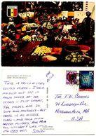 Senegal 1970's Postcard Fruit & Vegetable Market, To U.S. - Senegal