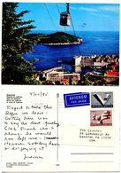 Yugoslavia 1985 Postcard Dubrovnik - Lokrum With Cablecar - Jugoslavia