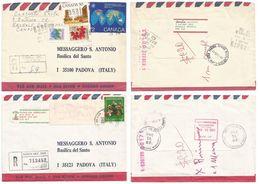 Canada Postal History Lot In 15 Charity CVs Many Registered To St. Anthony's Basilica In Padova Italy - Postal History