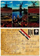 Netherlands 1971 Postcard Groeten Uit Holland - Windmills, Tulips, Trad. Costumes - Greetings From...