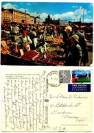 Finland 1971 Postcard Helsinki Marketplace,  Svarvar Pmks - Finland
