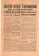 FEUILLE   OFFICIEL   D INFORMATIONS   DES  ALPES  MARITIMES           LUNDI 4 SEPTEMBRE  1944 - Documents