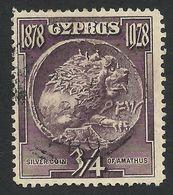 Cyprus, 3/4 Pi. 1928, Sc #114, Mi # 108, Used. - Cyprus (...-1960)