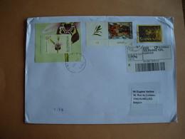 Slovénie. Lettre Recommandée  BF 19A: Orchidée  (2004) - 469: Europa (2005) - 411: Noël.(2007) - Slovénie