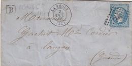 LETTRE. 3 OCT 66. GIRONDE LA REOLE. PC Du GC 3114. POUR LANGON. BOITE URBAINE B / 1 - Postmark Collection (Covers)