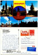Hungary 1988 Picture Postal Card Of Budapest, To U.S. - Hungary