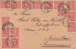 Allemagne Lettre De Service Inflation Augsburg 1923 - Germany