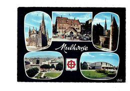 Cpm - 68 - MULHOUSE - Temple St Etienne Hotel De Ville Bâtiment Annulaire Palais Des Sports - - Mulhouse