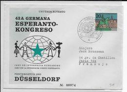 ESPERANTO - ALLEMAGNE - 1965 - ENVELOPPE Avec OBLITERATION TEMPORAIRE - Esperanto