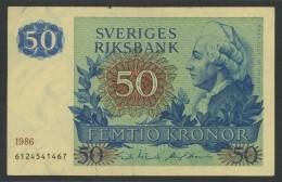 (Suède) Sverige . 50 Couronnes Kronor 1986 . - Suède