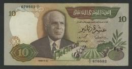 (Tunisie) 10 Dinars 1986 . - Tunisie