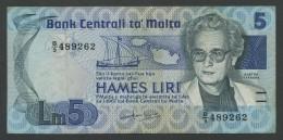 (Malte) Malta . 5 Hames Liri . - Malta