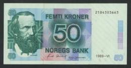 (Norvège) Norway Norge 50 Couronnes Kroner 1989 . UNC . - Norvegia