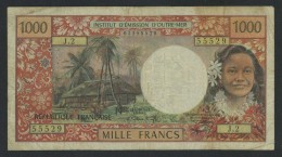 (Polynésie Française) Papeete 1000 Francs . - Papeete (French Polynesia 1914-1985)