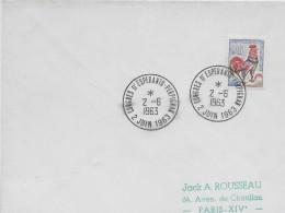 ESPERANTO - FRANCE - 1963 - ENVELOPPE Avec OBLITERATION TEMPORAIRE - Esperanto