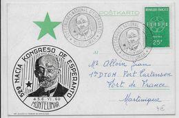 ESPERANTO - FRANCE - 1960 - CARTE Avec OBLITERATION TEMPORAIRE De MONTELIMAR - Esperanto