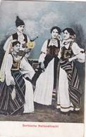 SERBISCHE NATIONALTRACHT. SERBIA. FOLK FOLKLORE COSTUME. CPA. CIRCA 1900's- BLEUP - Kostums