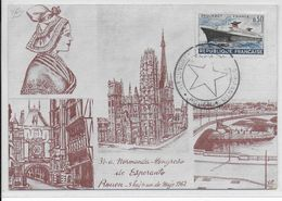 ESPERANTO - FRANCE - 1962 - CARTE Avec OBLITERATION TEMPORAIRE De ROUEN - Esperanto