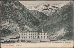 Die Friedenskaserne In Andermatt, Uri, 1906 - Wehrli U/B AK - UR Uri