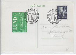 ESPERANTO - SUEDE - 1963 - CARTE Avec OBLITERATION TEMPORAIRE - Esperanto