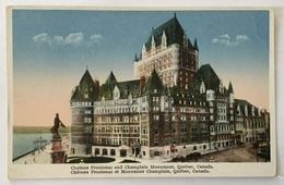 CANADA QUEBEC - CHATEAU FRONTENAC AND CHAMPLAIN MONUMENT - Québec - La Cité