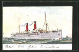 """CPA Passagierschiff """"Kenilworth Castle"""", Union Castle Line - Paquebots"""