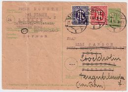 1946, 45 Pfg. , Karte Nach Schweden! , #a744 - Zone Anglo-Américaine