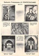 Cartolina Rieti Santuario Francescano Di Fontecolombo 5 Vedute - Rieti