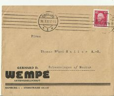 DE CV 1927 HAMBURG - Storia Postale