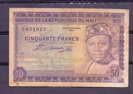 Mali 50 Fr  Modibo At Right  Fine - Mali