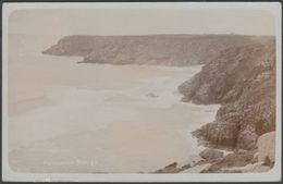 Porthcurno Bay, Cornwall, 1910 - RP Postcard - England
