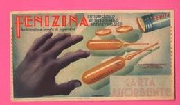 Carte Assorbenti Pubblicità Medicinali Farmacia Papier Absorbant Absorbent Paper Ottima Grafica - Carte Assorbenti