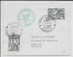 ESPERANTO - BELGIQUE - 1964 - ENVELOPPE Avec OBLITERATION TEMPORAIRE - Esperanto