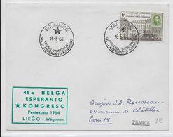 ESPERANTO - BELGIQUE - 1964 - ENVELOPPE Avec OBLITERATION TEMPORAIRE De SOUMAGNE - Esperanto