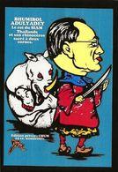 CPM Siam Thaïlande Politique Satirique Le Roi Rhinocéros Jihel Tirage Signé 15 Exemplaires Numérotés Signés - Thailand