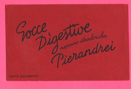 Carte Assorbenti Pubblicità Medicinali Farmacia GOCCE PIERANDREI Papier Absorbant Absorbent Paper Ottima Grafica - Carte Assorbenti