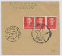 ESPERANTO - PAYS-BAS - 1954 - FRAGMENT Avec OBLITERATION TEMPORAIRE - Esperanto