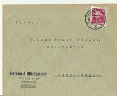 DE CV 1927 PFROZHEIM - Storia Postale