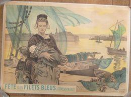 Superbe Affiche De La Première Fête Des Filets Bleus De Concarneau - Illustrée Par A. GRANCHI-TAYLOR - 1905 - Affiches