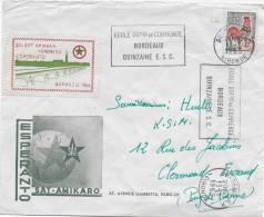 ESPERANTO - FRANCE - 1966 - ENVELOPPE ILLUSTREE De PROPAGANDE Avec VIGNETTE De BORDEAUX - Esperanto