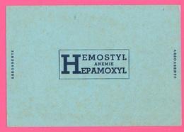 Carte Assorbenti Pubblicità Medicinali Farmacia Hemostyl  Anemie Hepamoxyl Papier Absorbant Absorbent Paper - Carte Assorbenti
