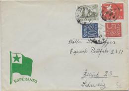 ESPERANTO - SUEDE - 1958 - ENVELOPPE ILLUSTREE De PROPAGANDE - Esperanto